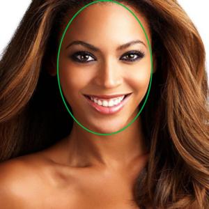 Beyonce visage oval