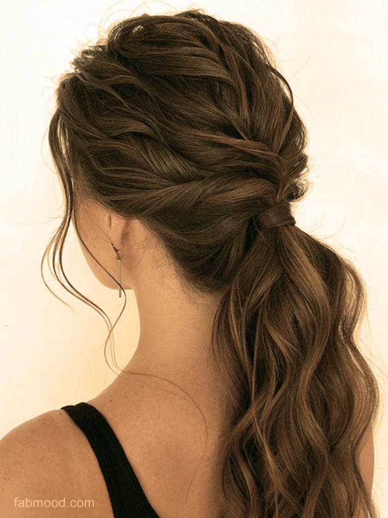 la queue de cheval tressée coiffures faciles maison