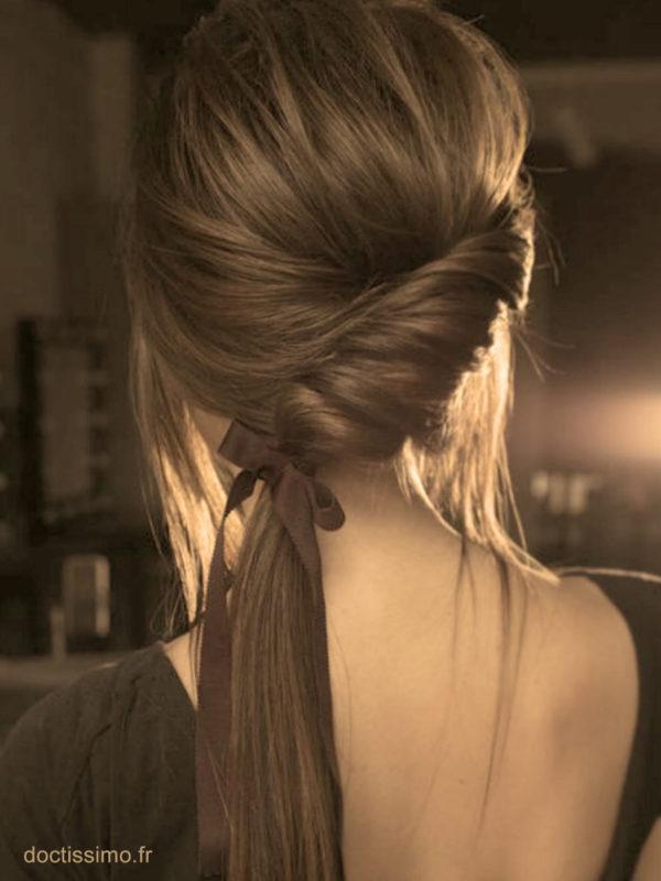 Le ruban coiffures faciles maison