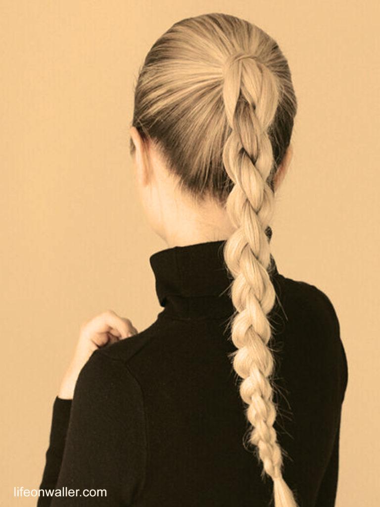 la tresse unique coiffures faciles maison
