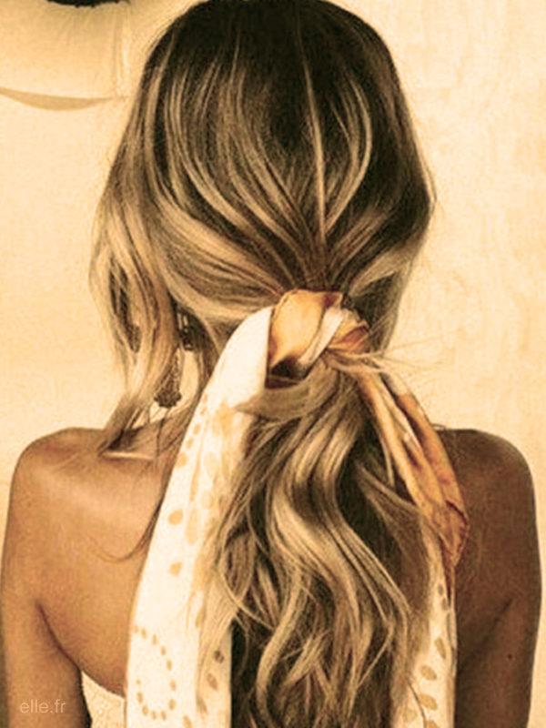 le foulard coiffures faciles maison