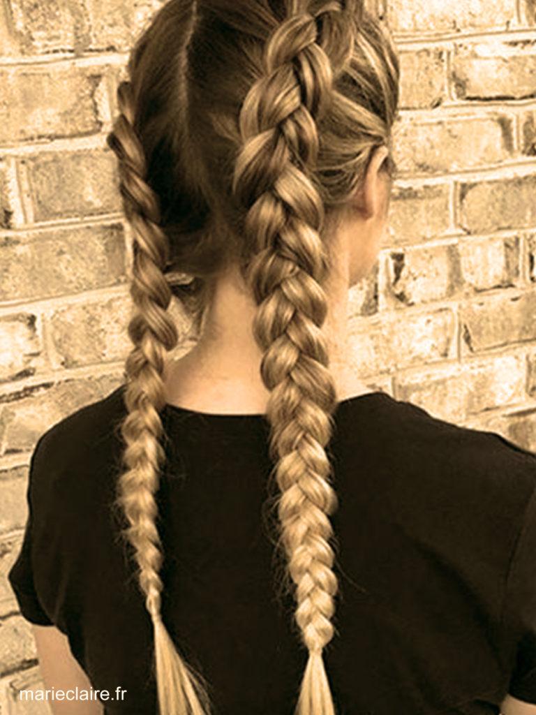 la natte coiffures faciles maison