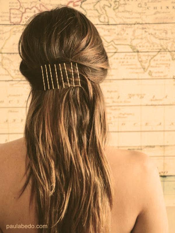 L'épingle stylisée coiffures faciles maison